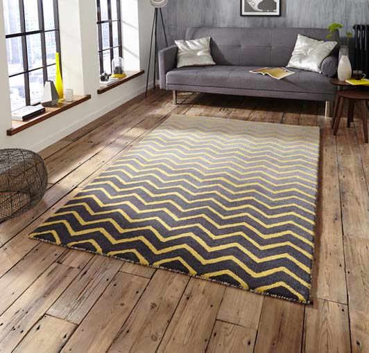 Spectrum Grey/Yellow 120x170 £199, 150x230 £299