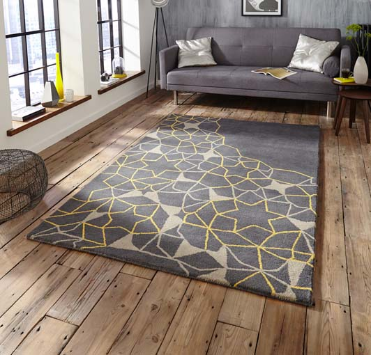 Spectrum Grey Yellow 120x170 £199, 150x230 £299