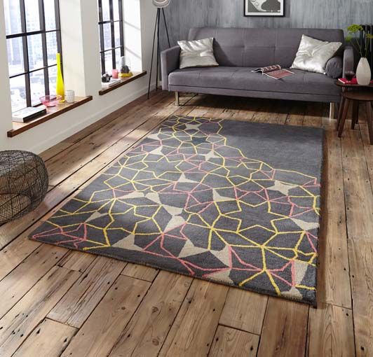 Spectrum Grey/Yellow/Pink 120x170 £199, 150x230 £299