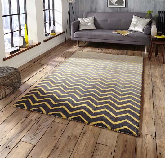Spectrum Grey/Yellow 120x170 £199, 150x230 £299